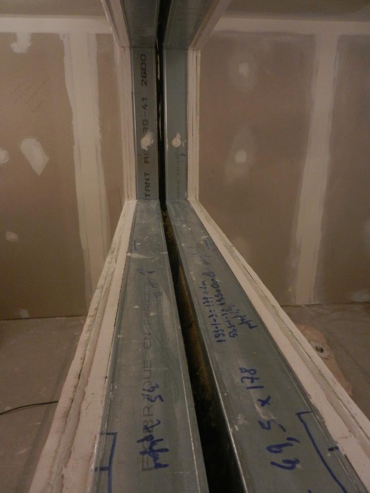 Fenêtre, 3 couches de plaque de plâtre